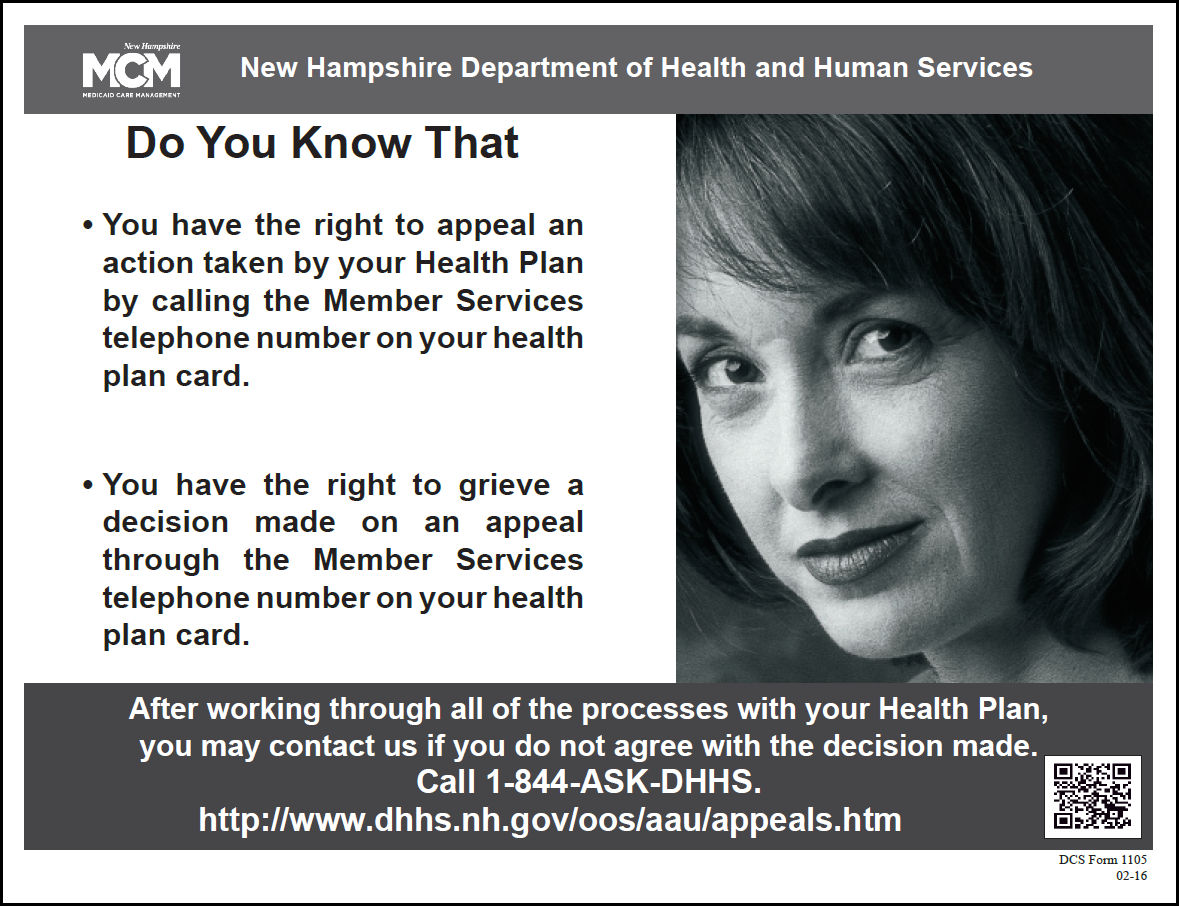 New Hampshire Medicaid Managed Care Health Plans Your Right To Appeal Or  File A Grievance