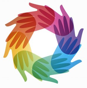 conference logo - joined hands