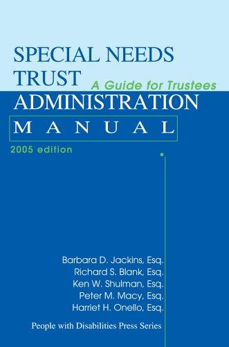 Book Cover, Special Needs Trust Administration Manual: A Guide For Trustees