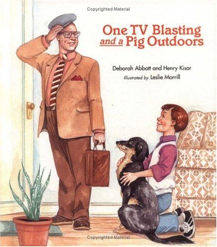 Book Cover, One TV Blasting And A Pig Outdoors