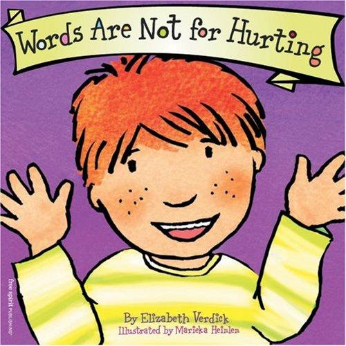 Book Cover, Words Are Not For Hurting