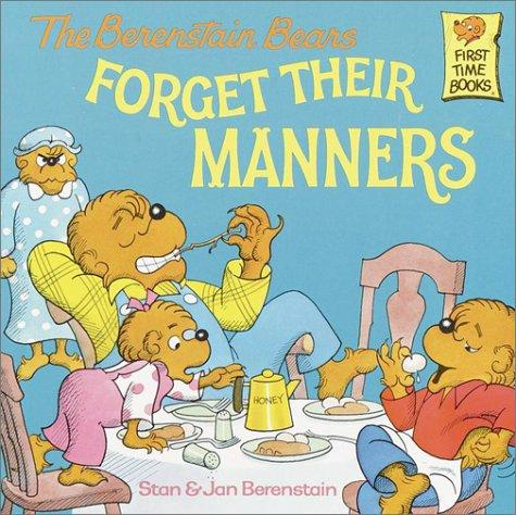 Book Cover, The Berenstain Bears Forget Their Manners