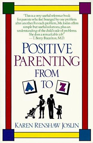 Book Cover, Positive Parenting From A To Z