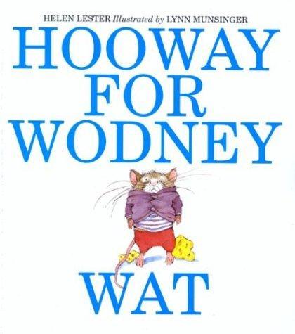 Book Cover, Hooway For Wodney Wat