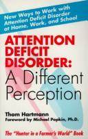 Book Cover, Attention Deficit Disorder: A Different Perception