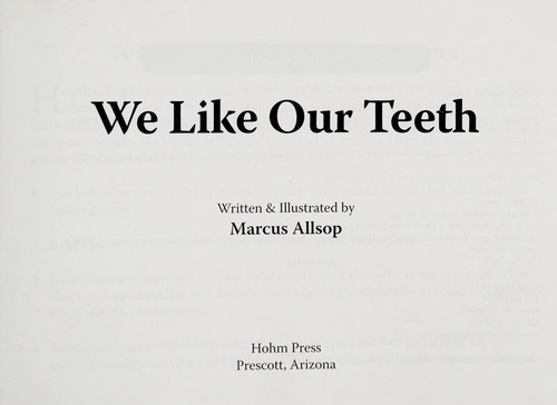 Book Cover, We Like Our Teeth