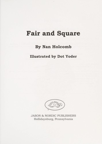 Book Cover, Fair And Square