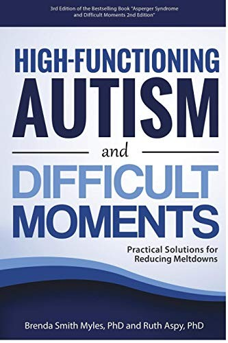 Book Cover, High-Functioning Autism and Difficult Moments