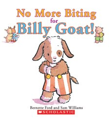 Book Cover, No More Biting For Billy Goat!