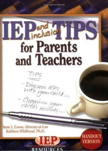 Book Cover, IEP and Inclusion Tips for Parents and Teachers