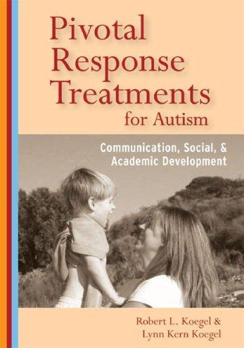 Book Cover, Pivotal Response Treatments for Autism