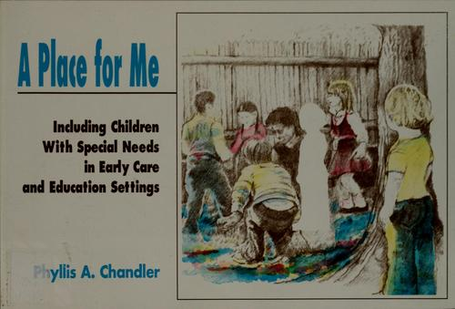 Book Cover, A Place for Me: Including Children with Special Needs in Early Care and Education Settings