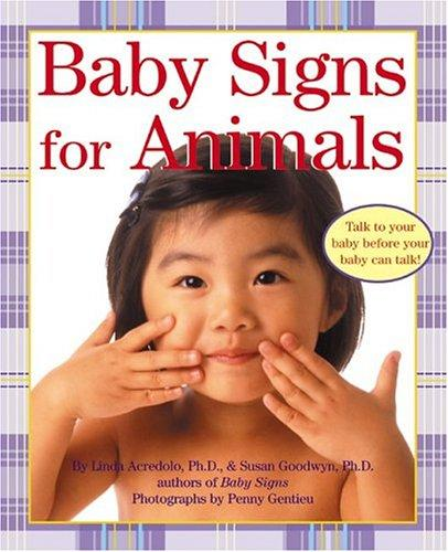 Book Cover, Baby Signs for Animals