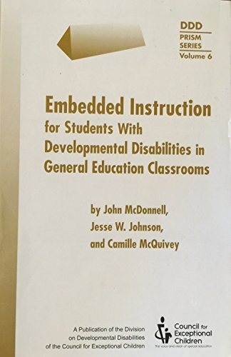 Book Cover, Embedded Instruction for Students with Developmental Disabilities in General Education Classes