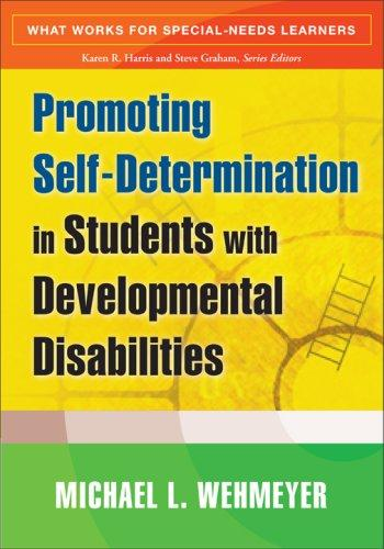 Book Cover, Promoting Self-Determination in Students with Developmental Disabilities