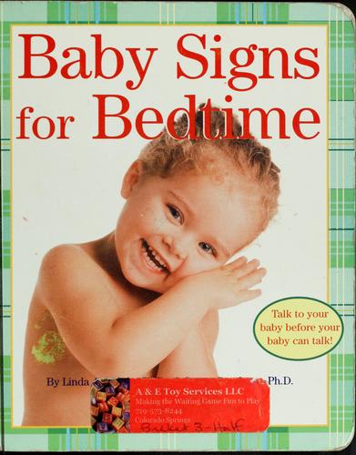 Book Cover, Baby Signs for Bedtime